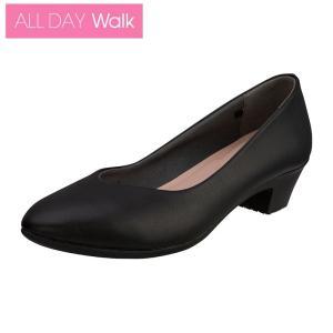 ALL DAY Walk 073 ブラックスムース [ALD 0730] ※21.0-26.0cm 2E/パンプス/歩きやすい|achilles-shop3