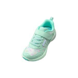 スニーカー女の子 靴  子供靴 運動靴 キッズ 瞬足 LJ-695 ミント