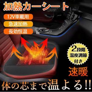 シートヒーター ホットカーシート ホットシート シートカバー 12V 簡単取付 速暖 車載 シガー電源 温度調整スイッチ 暖房 achostore