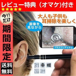 【セール】耳かき 電子耳鏡 耳道内 携帯 パソコン接続 ハイビジョンカメラ 内視鏡 ledライト付き...