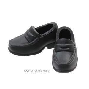 1/12 ソフビローファー(ブラック) [アゾン 人形用靴]|acodolls