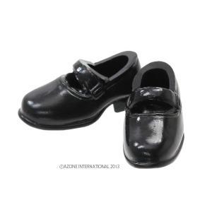 1/12 ソフビストラップシューズ(ブラック) [アゾン 人形用靴]|acodolls