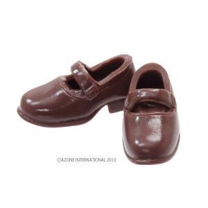 1/12 ソフビストラップシューズ(ブラウン) [アゾン 人形用靴]|acodolls