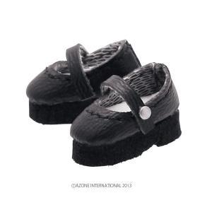 1/12 ストラップシューズ(ブラック) [アゾン 人形用靴]|acodolls