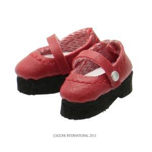 1/12 ストラップシューズ(レッド) [アゾン 人形用靴]|acodolls