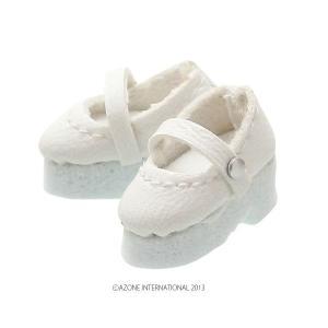 1/12 ストラップシューズ(ホワイト) [アゾン 人形用靴]|acodolls