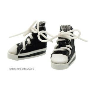 1/12 スニーカー(ブラック) [アゾン 人形用靴]|acodolls