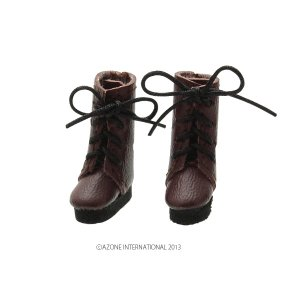 1/12 レースアップショートブーツ(ダークブラウン) [アゾン 人形用靴]|acodolls