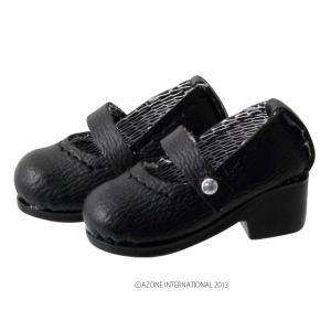 1/12 ピコD ストラップシューズ(マットブラック) [アゾン 人形用靴]|acodolls