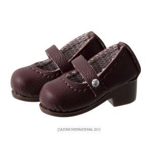 1/12 ピコD ストラップシューズ(マットブラウン) [アゾン 人形用靴]|acodolls