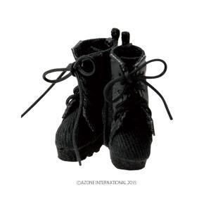 1/12 ミリタリーコンバットブーツ(ブラック) [アゾン 人形用靴]|acodolls