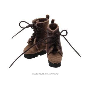 1/12 ミリタリーコンバットブーツ(アースブラウン) [アゾン 人形用靴]|acodolls