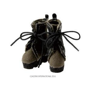 1/12 ミリタリーコンバットブーツ(カーキ) [アゾン 人形用靴]|acodolls