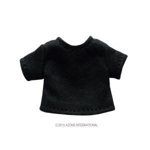 1/12 ベーシックTシャツ(ブラック) [アゾン 人形用洋服]|acodolls
