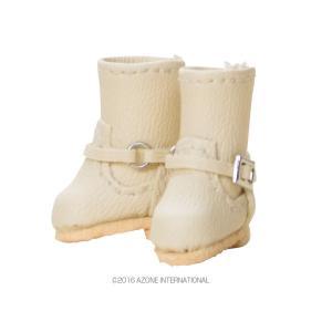 1/12 ダブルバックルブーツ(ベージュ) [アゾン 人形用靴]|acodolls