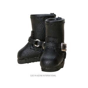 1/12 ダブルバックルブーツ(ブラック) [アゾン 人形用靴]|acodolls