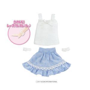 1/12 スウィートガールズset(ホワイト×ライトブルー) [アゾン 人形用洋服]|acodolls