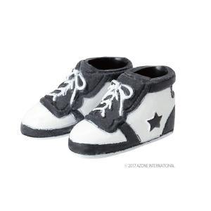 1/12 ソフビハイカットスニーカー(ブラック×ホワイト) [アゾン 人形用靴]|acodolls