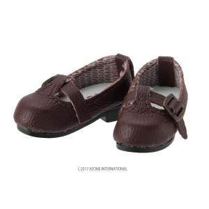1/12 ピコD Tストラップシューズ(ブラウン) [アゾン 人形用靴]|acodolls