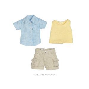 1/12 ハイキングパンツset(ブルー×ベージュ) [アゾン 人形用洋服]|acodolls