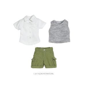 1/12 ハイキングパンツset(ホワイト×カーキ) [アゾン 人形用洋服]|acodolls