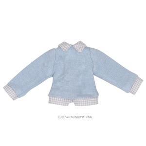 1/12 フェイクレイヤードセーター(ライトブルー) [アゾン 人形用洋服]|acodolls