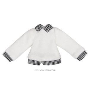 1/12 フェイクレイヤードセーター(ホワイト) [アゾン 人形用洋服]|acodolls