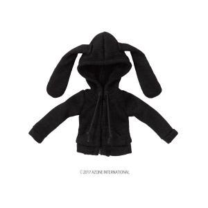 1/12 うさみみパーカー(ブラック) [アゾン 人形用洋服]|acodolls