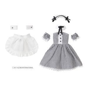 1/12 カフェメイドset(白黒ストライプ×ホワイト) [アゾン 人形用洋服]|acodolls