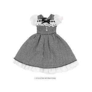 1/12 スウィートギンガムワンピース(ブラックチェック) [アゾン 人形用洋服]|acodolls