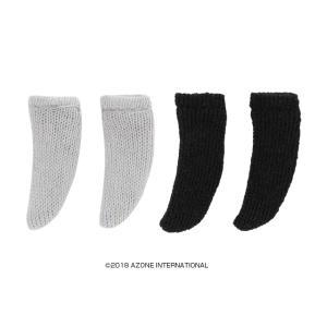 1/12 ショートソックスBset(グレー、ブラック) [アゾン 人形用靴下]|acodolls