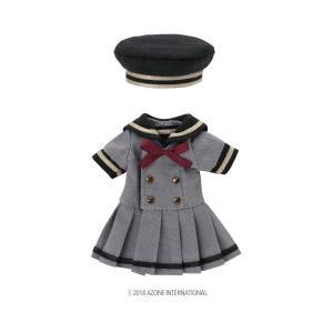 1/12 ピコD ギムナジウムセーラーワンピset(グレー×ブラック) [アゾン 人形用洋服]|acodolls