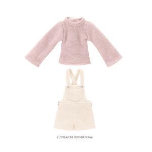 1/12 ピコD ほっこりサロペットset(ピンク×ホワイト) [アゾン 人形用洋服]|acodolls