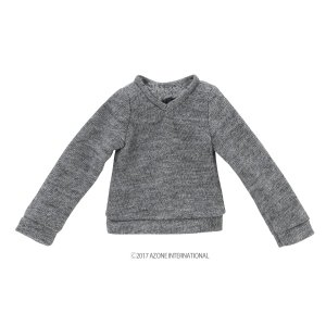 PNXS 長袖Vネックセーター(グレー) [アゾン 人形用洋服]|acodolls