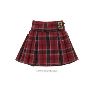 PNXS プレッピープリーツスカート(レッド) [アゾン 人形用洋服]|acodolls