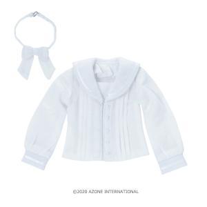 PNXS セーラーリボンブラウス II(ホワイト×ホワイト) [アゾン 人形用洋服]|acodolls