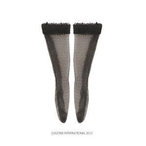 PNS レースニーソックス(ブラック) [アゾン 人形用靴下]|acodolls
