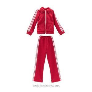 PNS ジャージset(赤) [アゾン 人形用洋服]|acodolls