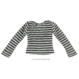 PNS しましまTシャツ(グレー×ダークグレー) [アゾン 人形用洋服]|acodolls