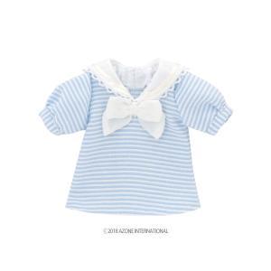 PNS お砂糖セーラーブラウス(パステルブルー×ホワイト) [アゾン 人形用洋服]|acodolls