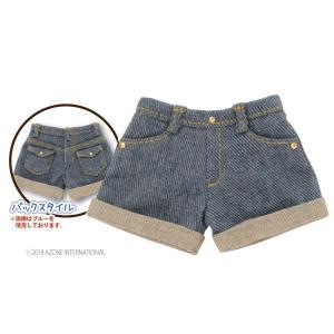 PNS デニムロールアップショートパンツ(ブルー) [アゾン 人形用洋服]|acodolls