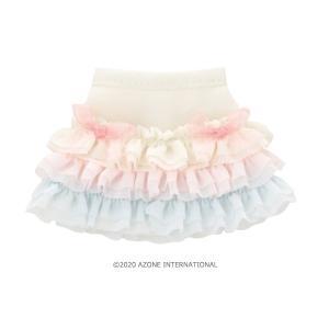 Sugar Dream PNS お砂糖リボンフリルスカートII(パステルピンク×パステルブルー) [アゾン 人形用洋服]|acodolls