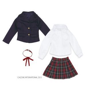 PNM 聖ポートルダム高等部 冬制服set(ネイビー×レッドチェック) [アゾン 人形用洋服] acodolls