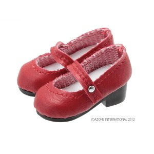 PN ラウンドトゥストラップシューズ(レッド) [アゾン 人形用靴]|acodolls