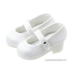 PN ラウンドトゥストラップシューズ(ホワイト) [アゾン 人形用靴]|acodolls