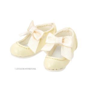 PN Sugar Dream お砂糖リボンシューズ(クリーム) [アゾン 人形用靴]|acodolls