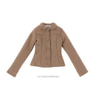 AZO2 50 プレリュードショートコート(ライトブラウン) [アゾン 50cm人形用洋服]|acodolls