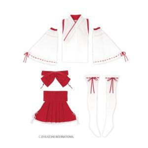 AZO2  セクシー巫女set(緋色) [アゾン 50cm人形用洋服]|acodolls