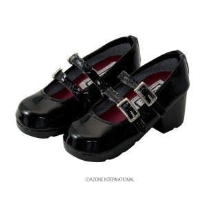 50 ストラップシューズ(ブラック) [アゾン 人形用靴]|acodolls