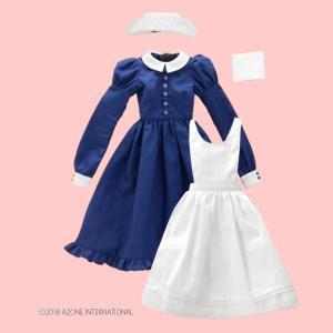 50 クラシカルナースset(ホワイト×ネイビー) [アゾン 50cm人形用洋服]|acodolls
